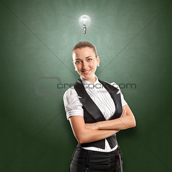 Idea Concept Business Woman
