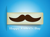 Happy Father Day Mustache Tag