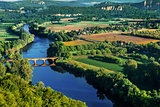 medieval bridge over the dordogne river