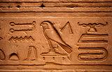 Hieroglyphs Horus temple Edfou