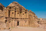 The Monastery (Al Deir) in nabatean city of  petra jordan
