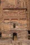 The Silk Tomb  in nabatean city of  petra jordan