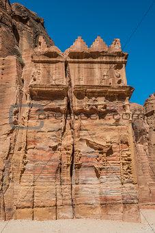 tomb in nabatean city of  petra jordan