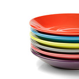 Stack of colorful plates