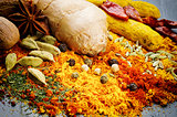 Colorful mix of different spices