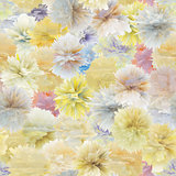 Pattern of abstract flowers - vector seamless texture