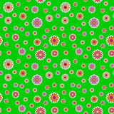 Vector texture - flowers on a green meadow
