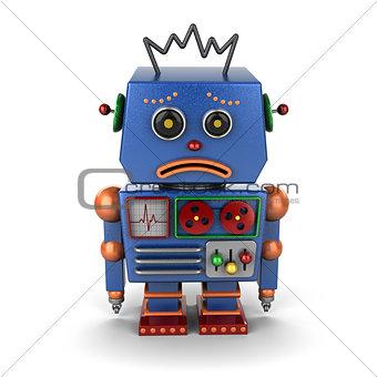 Sad vintage robot