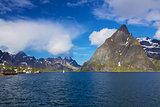 Scenic norwegian fjord