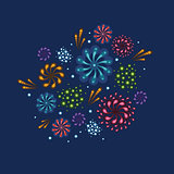Vector holiday fireworks illustration