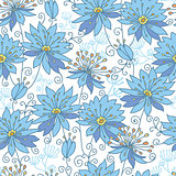 Vector heavenly flowers seamless pattern background
