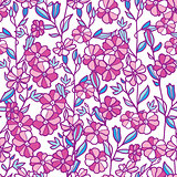 Vector vibrant field flowers seamless pattern background