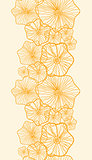 Vector Yellow floral shapes vertical seamless pattern background