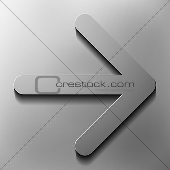 to the right  direction movement, vector style