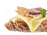 Sandwich with melted cheese