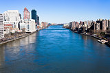East river in New York City