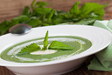 Nettle cream soup