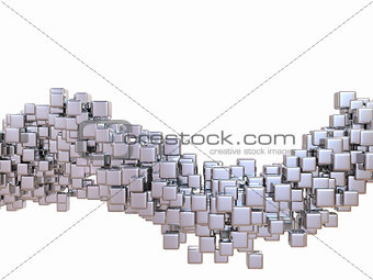 Cubes. Abstract digital cube background. 3d