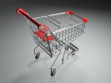 Empty shopping basket. 3d