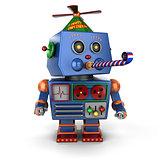 Happy Birthday toy robot