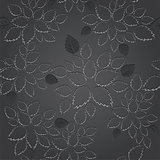 Seamless black leaves lace wallpaper pattern