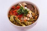 Beef seafood noodle