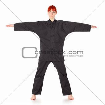 Wushu Woman Stand