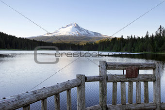 Fishing Pier at Trillium Lake Oregon