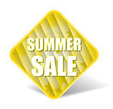 Summer Sale Label With Nice Square Background