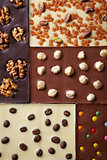 various chocolate bar