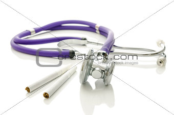 Cigarettes and stethoscope