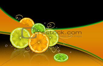 Citrus and bubbles