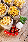 Pasta variety and specific cooking ingredients