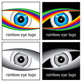 Rainbow Eye Logo Design