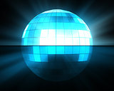 Blue disco ball