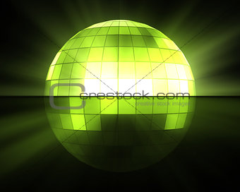Green disco ball