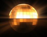Orange disco ball