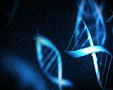 Blue DNA helix