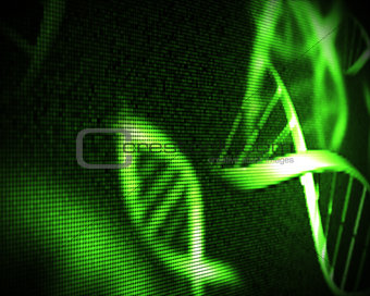 Green DNA helix