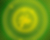 Green pixelated circles