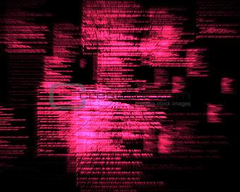 Pink blurred texts