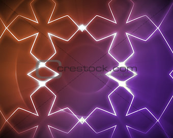 Symmetrical pattern orange and purple