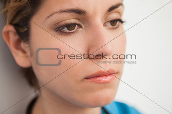 Nurse looking disappointed