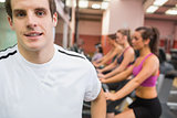 Man smiling in gym