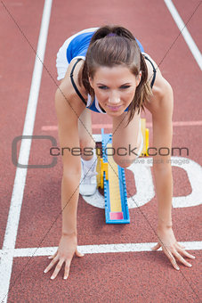 Runner beginning to run