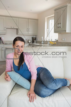 Relaxing woman on the couch