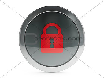 Black security icon with highlight