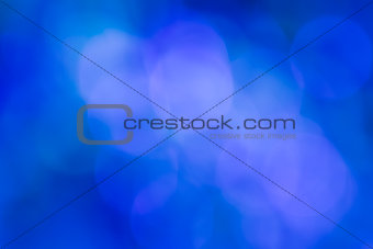 Blue bokeh abstract