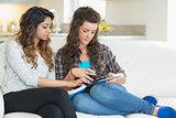 Women doing their homework