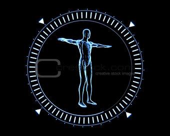 Blue human circle